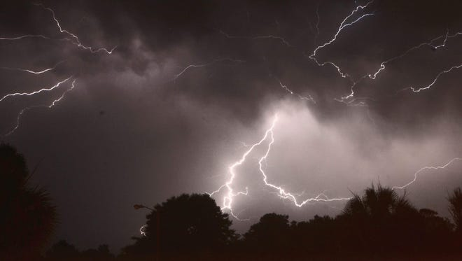 PNJ reader Sammy Cohen shared these amazing lightning shots captured during Sunday night's thunderstorm.