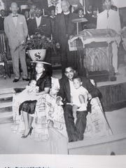 The Rev. W.O. Wells and his family are pictured at