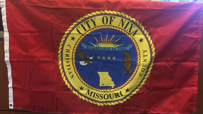 The current flag of the City of Nixa.