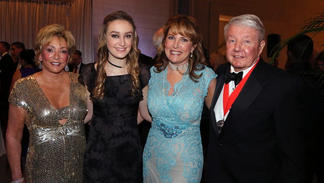 A Tennessee Waltz co-chairs Anne Russell,  left, and Joe Russell, right, with Lane Dickson and Dara Russell attend A Tennessee Waltz at the State Capitol Saturday April 29, 2017.