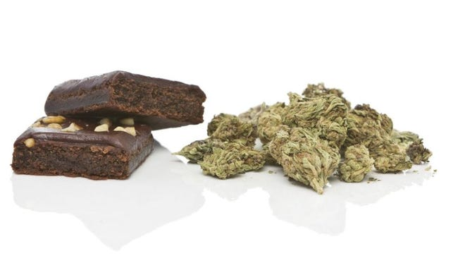 Marijuana with brownie
