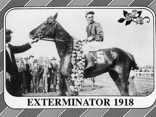 Exterminator when he won the 1918 Kentucky Derby.