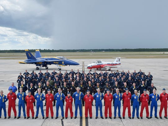 U.S. Navy Blue Angels and Royal Canadian Air Force