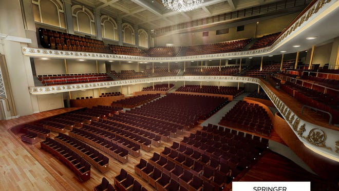 Music Hall renovation plans will be discussed on Monday in a city public hearling. This is a rendering of some of the plans for Springer Auditorium.