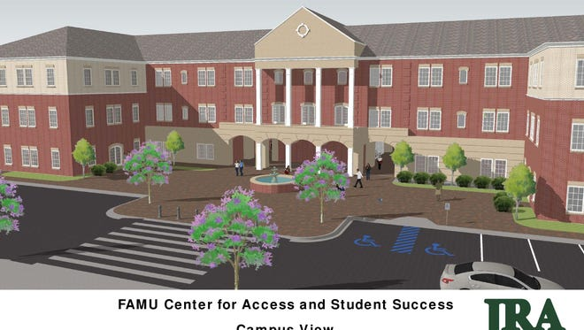 Architectural rendering of the FAMU Center for Access and Student Success, for which construction breaks ground Thursday.