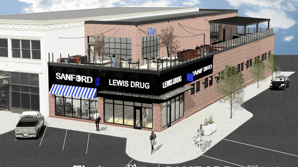 A Sanford clinic, Lewis Drug store and PAve bar will all be housed in a building at 10th and Phillips.