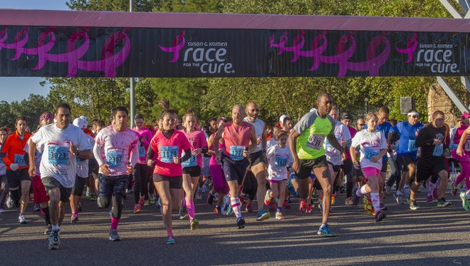 Runners head out during a past Susan G Komen Race for the Cure at Six Flags Great Adventure in Jackson.