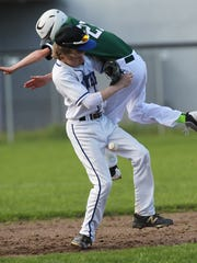 Weed's Logan Scholberg tries to avoid being tagged