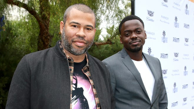 """""""Get Out"""" Director Jordan Peele, left, and actor Daniel Kaluuya attend Variety's Creative Impact Awards and 10 Directors to Watch Brunch Red Carpet at the 29th annual Palm Springs International Film Festival in Palm Springs, Calif."""
