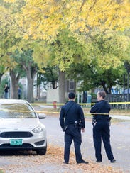 Burlington police remained at the scene early Thursday