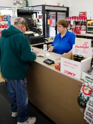 Mary, a cashier at Frank's Hardware in Stevens Point,
