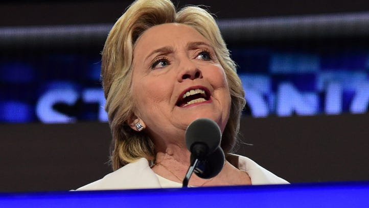 Hillary Clinton becomes the first woman nominee of