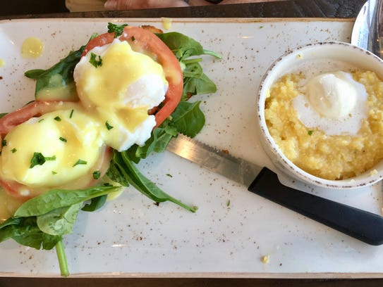 The Benedicts at First Watch in Viera come with ciabatta-style