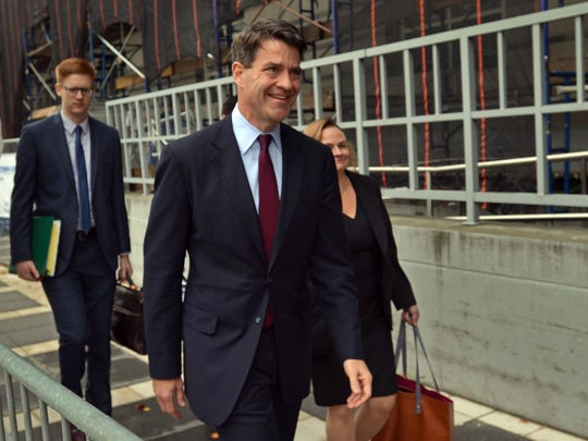 Bill Baroni arrives at the Federal Courthouse in Newark on Tuesday, September 27, 2016.