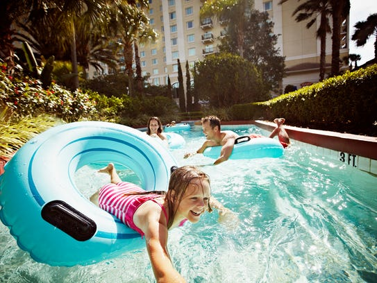 The lazy river at the Omni Orlando Resort at ChampionsGate