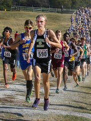 Central Magnet's Jordan Shirley finished 17th in the