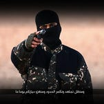 An undated image taken from video posted online by the Islamic State, circulating online Sunday Jan. 3, 2016.