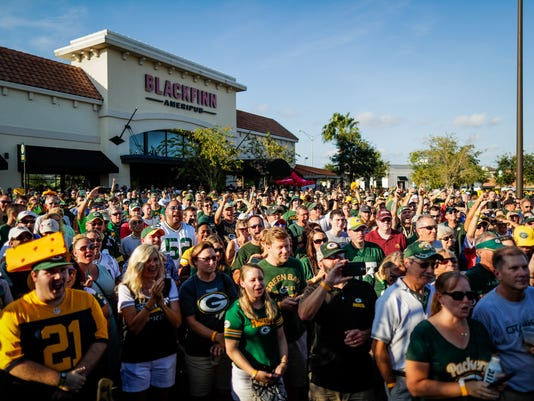 Packers pep rally Jacksonville