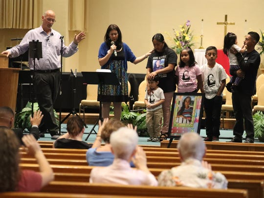 Pastor Tim Carson leads the vigil. Rita Hernandez, her children and her partner, Uribe Jimenez, were prayed for during the vigil for her missing daughter Dianna. A vigil was held in honor of Diana Alvarez's birthday. She would have turned 11 Thursday, May 17, 2018. The vigil was open to the public and was held at Estero United Methodist Church, in Estero, Florida. The man suspected in the 9-year-old's 2016 disappearance is suspected in her death. Though her body has not been found, Jorge Guerrero-Torres is accused of killing Diana.