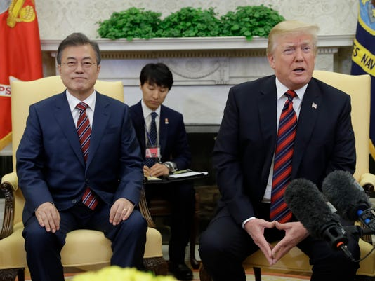 AP TRUMP US SOUTH KOREA A USA DC