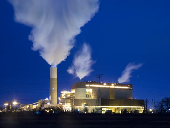 The We Energies power plant at 8000 95th St. in Pleasant