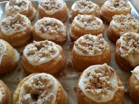 Apple praline 100-layer doughnuts from Five Daughters Bakery.