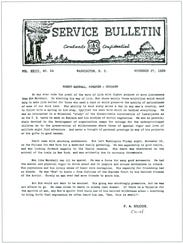 The service bulletin notice written by F.A. Silcox.