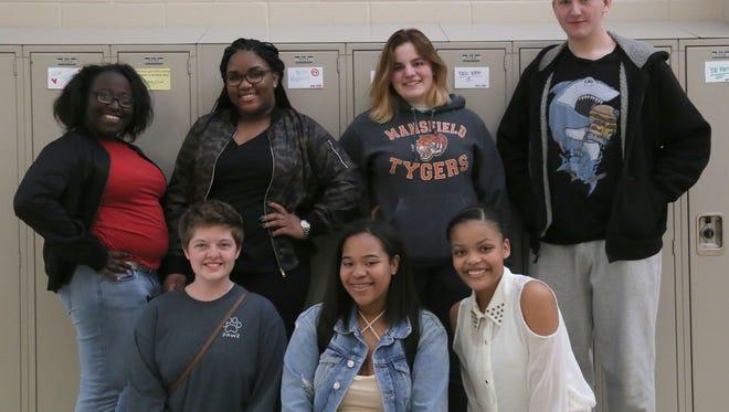 Members of the Mansfield Senior Key Club are; (Top row, left to right) Nazario Dislike, Meeca Feagin, Grayson Antreassian and Zaole Rome; (bottom row) Faith Owens, Branisha Collins and Elizabeth Pounds.