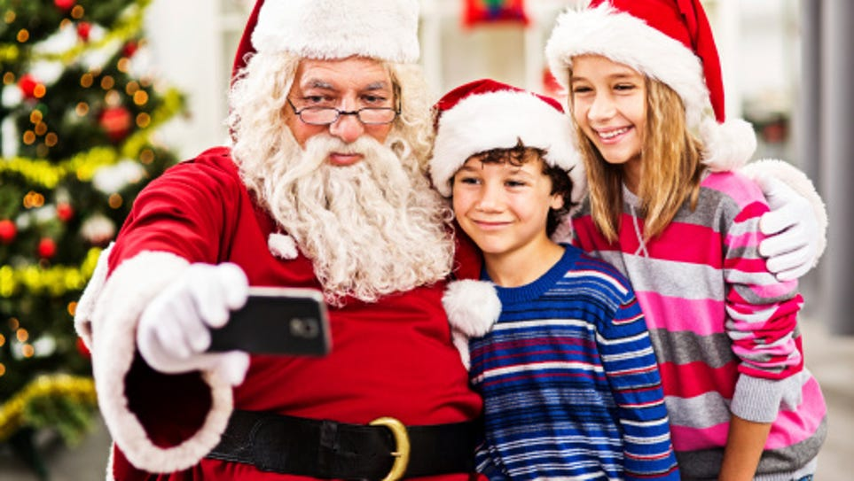 Like a lot of snowbirds, Santa spends this holiday