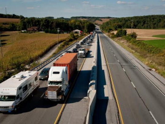 Interstate 83 will be widened from four to six lanes in the York area to help relieve congestion. (FILE-- DAILY RECORD/SUNDAY NEWS)