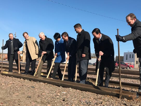 """City Hall hosted a """"rail-breaking"""" ceremony Wednesday"""