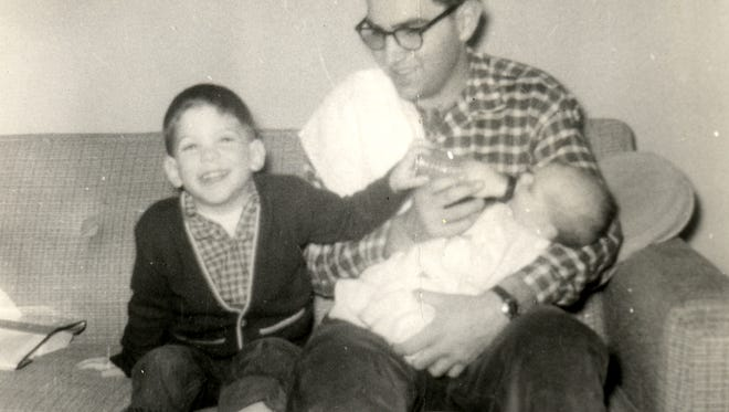 Old photo from the Graham family archives, with young Jeff, Jimmy and Jerry Graham.