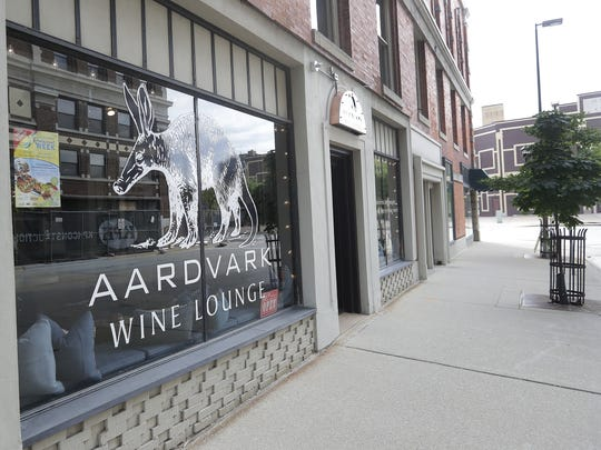 Brad and Lee-Ann Klingsporn, owners of Aardvark Wine Lounge have been active in the development of rules to allow bars and restaurants to have sidewalk seating.
