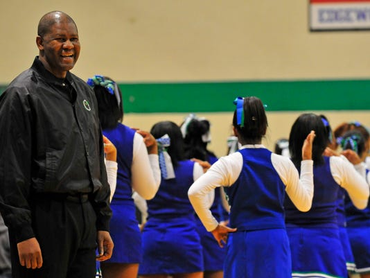 """January 28, 2011 DOC RODGERSXX A1: Darrell """"Doc"""" Rodgers smiles before the Winton Woods and Ross high school basketball game Friday evening, Jan. 28, 2011. The WLW-AM talk show host and former Reds minor league pitcher had a scare with terminal cancer in"""