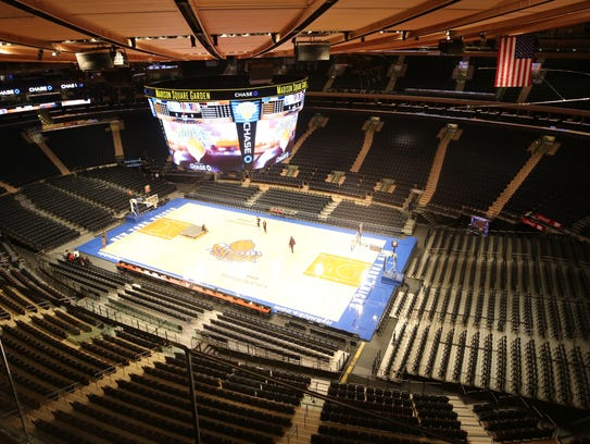 A view of Madison Square Garden in Manhattan