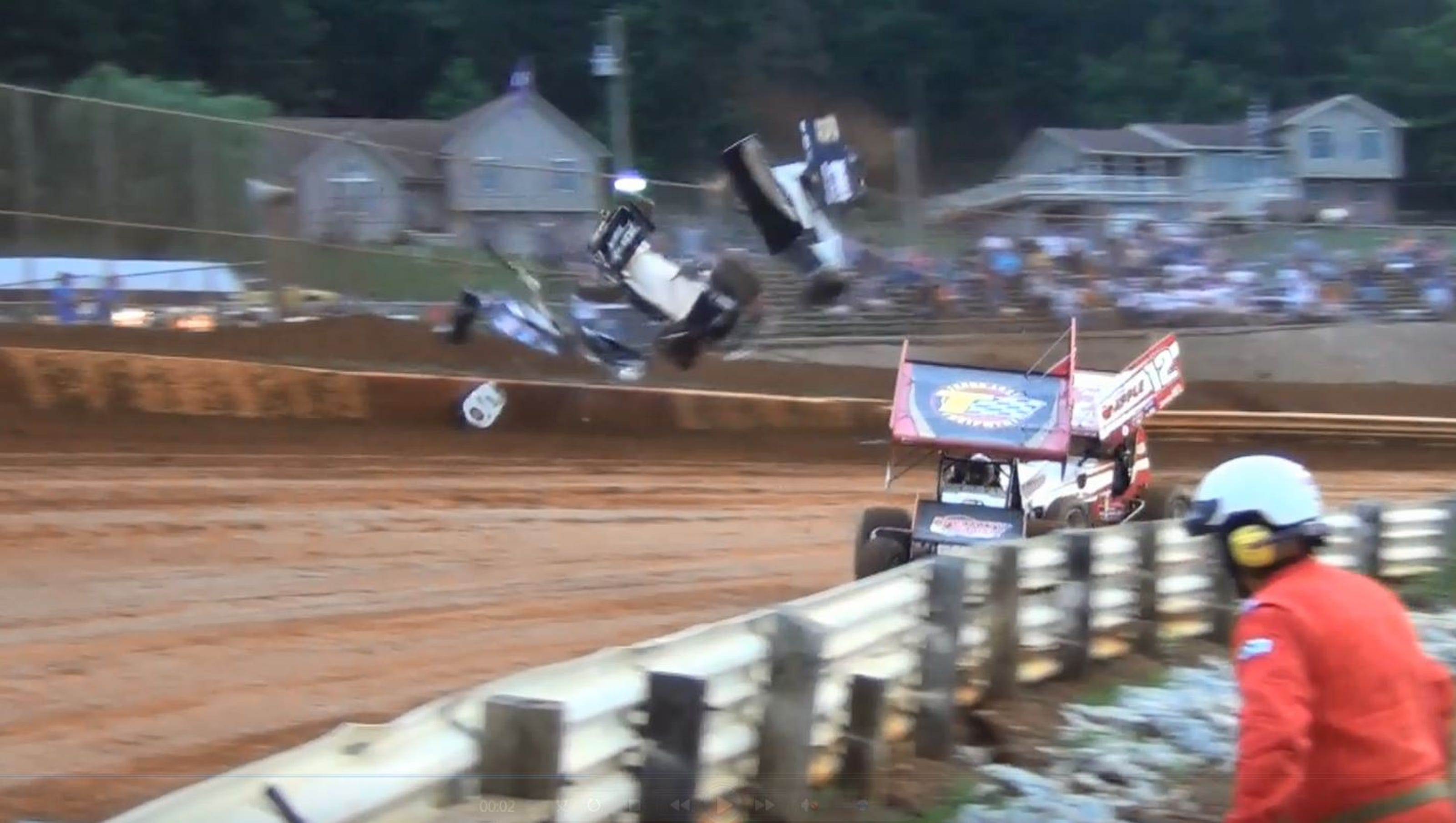 Lincoln Speedway Crash Caught On Video Not An Uncommon Sight
