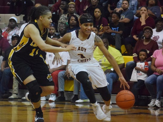 Natchitoches Central senior point guard Jolie Williams