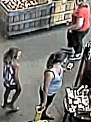 An surveillance image of the side of the suspects,