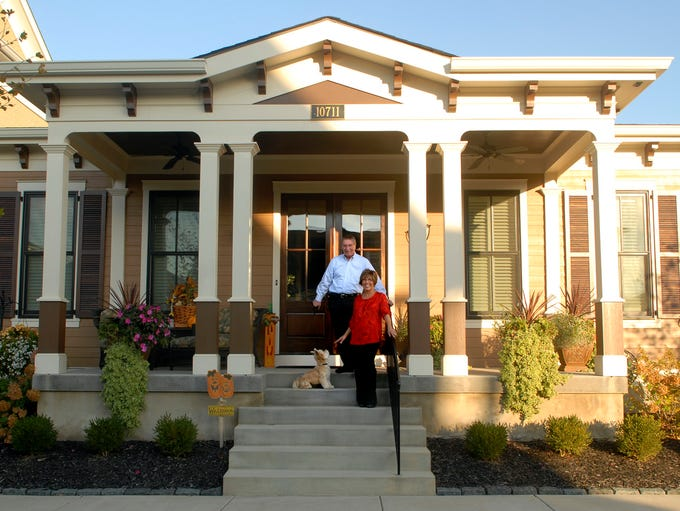 Prospect homeowners, Bruce and Carolyn Repp pose for