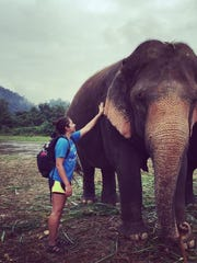 Marlee Delgado of Salinas at Elephant Nature Park in Thailand.