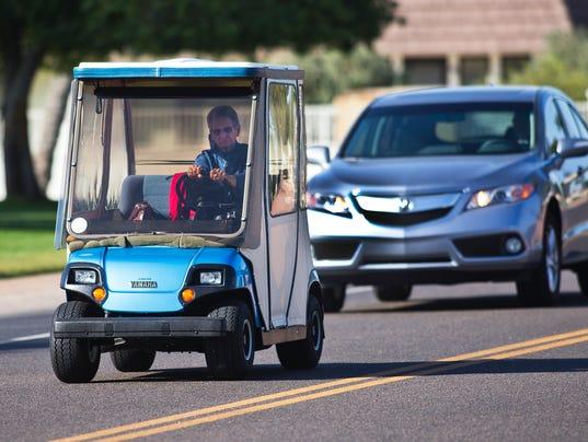 Golf carts on roadways