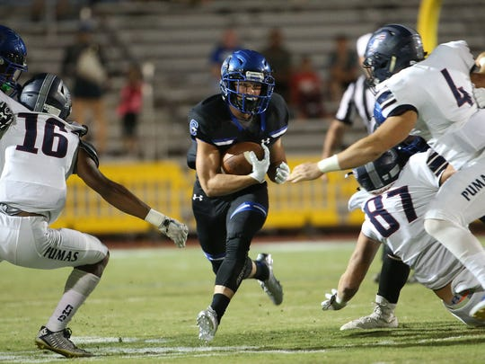 Chandler RB Drake Anderson had 237 yards rushing versus Gilbert Perry, helping the Wolves regain the top spot from last week's No. 1.