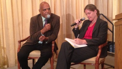 Civil rights leader Bob Moses is interviewed by by Wesley Hogan of Duke University at the Library of Congress.