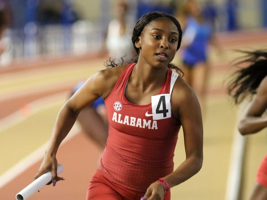 Sophomore Symone Darius, a member of Alabama's 400-meter relay that set a school record in finishing second in last year's NCAA outdoor track and field championships, plans to watch the bobsledding competition in the 2018 Winter Olympics.