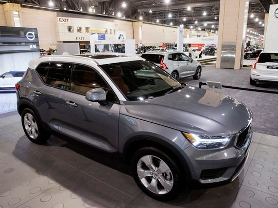 A Volvo Xc40 Sits On Display During Press Preview