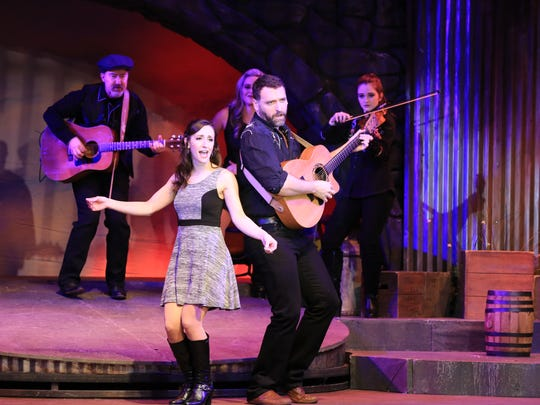 """Allison Fund and Justin Droegemueller in Broadway Palm's """"Ring of Fire"""""""