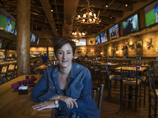 Carolyn Vangelos, owner of Twin Peaks restaurant at