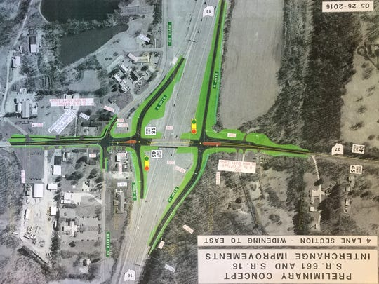 A concept plan for ODOT's proposed widening at Ohio 37.