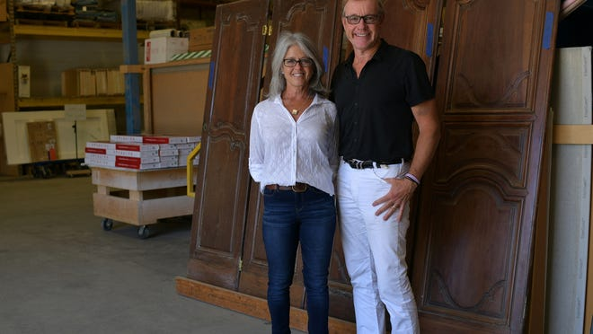 Kim and Ted Goodnow at their Woodmeister headquarters in Holden on Thursday.