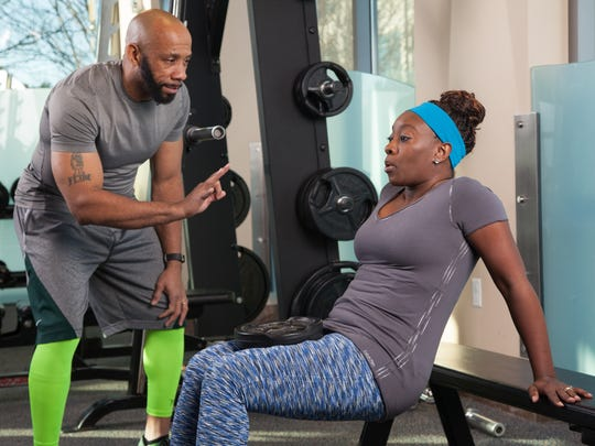 Kennis coaches Erica in her fitness journey. They do strength training three mornings per week, and Erica also attends two of the classes taught by Kennis.